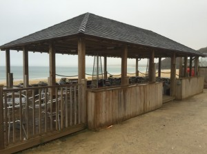 Great shelter for breakfast on the beach